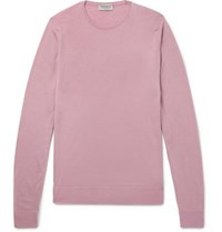 John Smedley Virgin Wool Sweater Pink