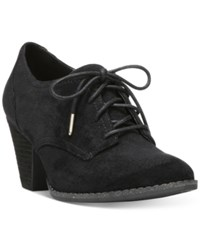 Dr. Scholl's Cheer Lace Up Booties Women's Shoes Black