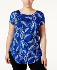 Alfani Plus Size Printed T Shirt Only At Macy's Floral Stencil