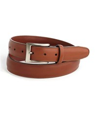 Perry Ellis Timothy Leather Belt Brown