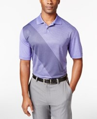Greg Norman For Tasso Elba Men's Striped Colorblocked Polo Shirt Only At Macy's Purple Yam Heather