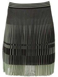 Maison Ullens Pleated Short Skirt Green