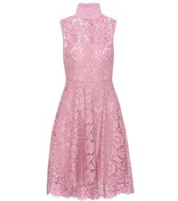 Valentino Sleeveless Lace Dress Pink