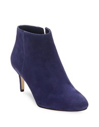Via Spiga Aurora Suede Booties Deep Blue