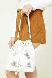Forever 21 Faux Leather Bucket Bag White