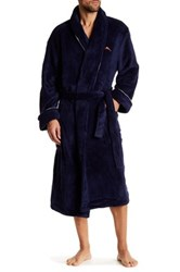 Tommy Bahama Plush Long Sleeve Robe Blue