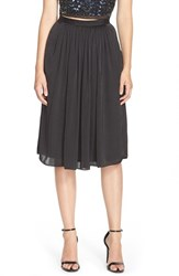 Women's Needle And Thread 'Pandora' Midi Skirt Black