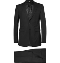 Burberry Black Slim Fit Wool Suit