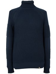 Pretty Green Flaxwood Roll Neck Sweater Navy