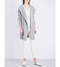 James Perse Waterfall Lapel Cashmere Cardigan Heather Grey