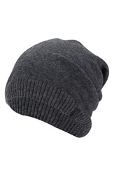 True Religion Men's Brand Jeans Slouch Beanie Grey Charcoal Heather