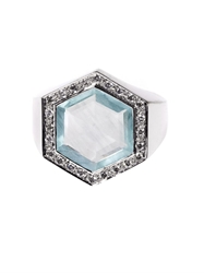 Jade Jagger Diamond Aquamarine And White Gold Ring