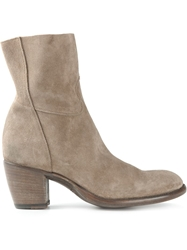 Rocco P. Chunky Heel Ankle Boots Nude And Neutrals
