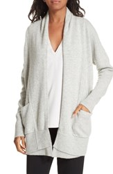 Brochu Walker Ferry Wool And Cashmere Cardigan Argent Grey Melange