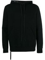 Unravel Project Brushed Hooded Sweatshirt Black