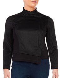 Rachel Rachel Roy Plus Shauna Asymmetrical Faux Suede Jacket Black