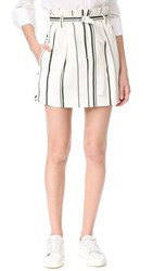 3.1 Phillip Lim Belted Striped Skirt Parchment