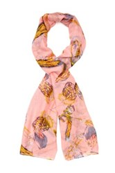 Cara Accessories Feather Print Scarf Orange