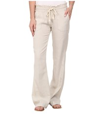 Roxy Ocean Side Pant Stone Casual Pants White