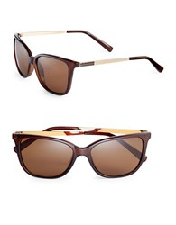 Calvin Klein 54Mm Square Sunglasses Brown