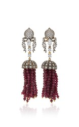 Anabela Chan Ruby Tassel Earrings Red