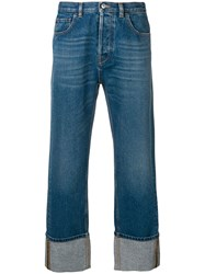 Valentino Wide Leg Jeans Blue
