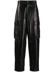 Acne Studios Leather Cargo Trousers Black