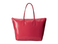 Lacoste L.12.12 Glossy Large Shopping Bag Hibiscus Handbags Pink