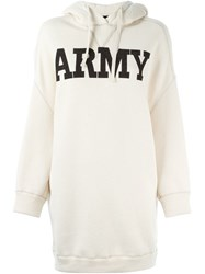 Nlst Oversized 'Army' Hoodie Nude And Neutrals