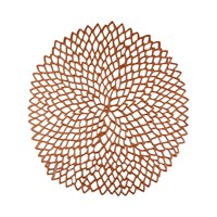 Chilewich Pressed Vinyl Dahlia Round Placemat Rose Gold