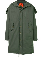 Mr And Mrs Italy Oversized Padded Coat Green