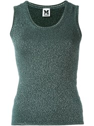 M Missoni Sleeveless Knitted Top Green
