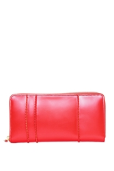Comme Des Garcons Raised Spike Long Zip Wallet Red