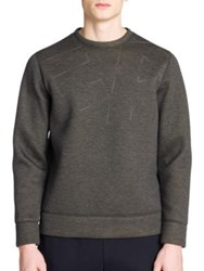 Emporio Armani Regular Fit Graphic Sweatshirt Slate