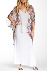24 7 Comfort Solid Maxi Skirt White