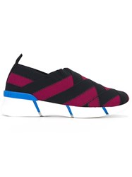 Stella Mccartney Slip On Woven Sneakers Pink And Purple