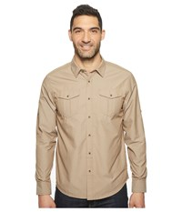 Prana Ascension Acorn Men's Long Sleeve Button Up Brown