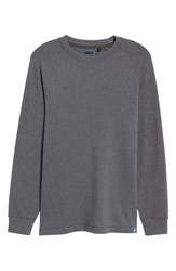 Thaddeus Men's Stefano Long Sleeve Raglan T Shirt Graphite