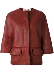 Marni Shearling Lined Jacket Red
