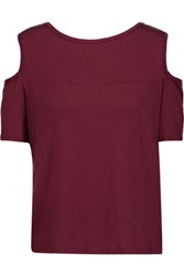 Kain Label Beverly Cutout Modal T Shirt Burgundy