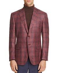 Canali Plaid Classic Fit Sport Coat Red