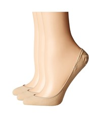Hue Hidden Cotton Liner 3 Pack Cream Women's Crew Cut Socks Shoes Beige