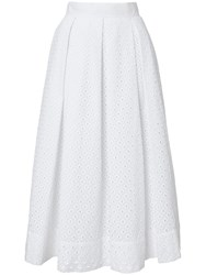 Winser London Broderie Anglaise Full Skirt White