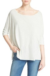 Women's Soft Joie 'Gracia' Wide Neck Cotton Tee Morning Mist