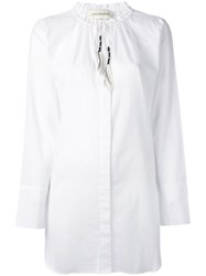 By Malene Birger Drawstring Collar Shirt Women Cotton 32 White