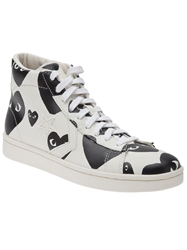 Comme Des Garcons Play 'Pro Star Hi' Trainers White