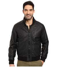 Calvin Klein Faux Leather Bomber Black 1 Men's Coat