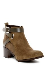 Charles David Gianni Buckle Strap Bootie Green