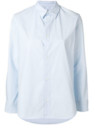 A.P.C. Long Sleeve Fitted Shirt Blue