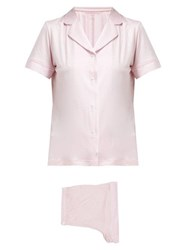 Derek Rose Carla Short Pyjamas Pink